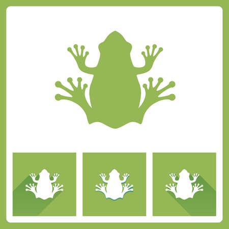 frog jump: Green Frog icons