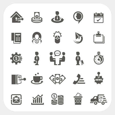 money exchange: Business and finance icons set Illustration