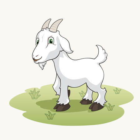 Cute cartoon goat