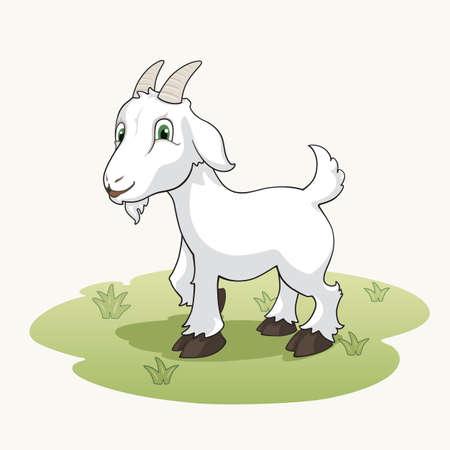 goat head: Cute cartoon goat
