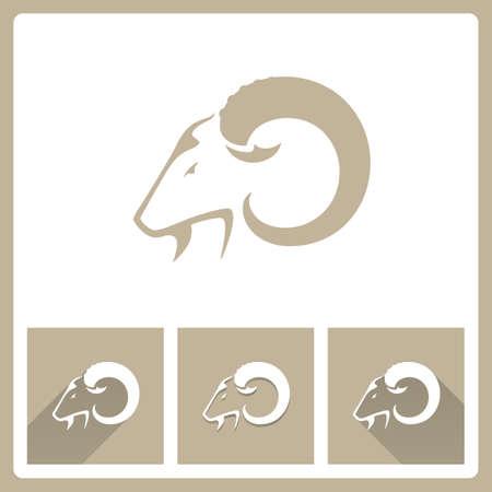 cabras: Iconos Cabra Cabeza