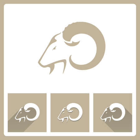 Goat Head icons Illustration