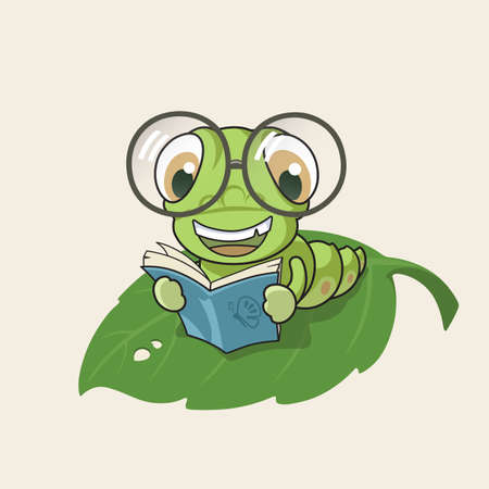 bookworm: Cartoon bookworm