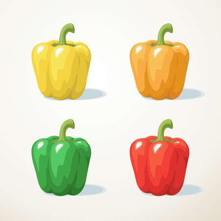 pimenton: Colorido de la pimienta dulce