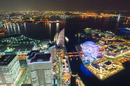 night scenery of Yokohama Stock Photo