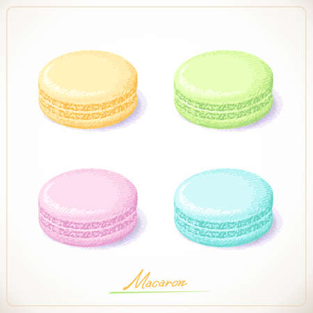 mucky: Colorful French Macarons, Sketch hand drawn