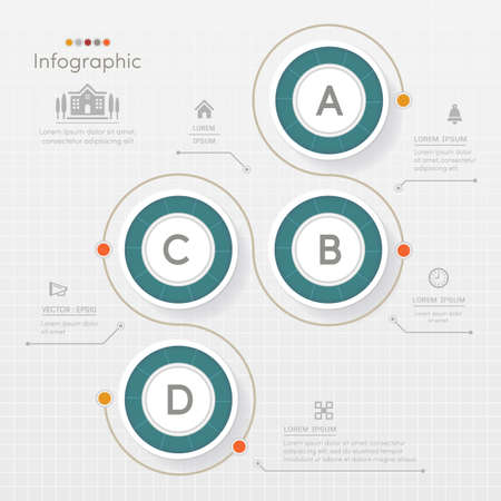 charts and graphs: Circle Infographics design template with icons, process diagram, vector eps10 illustration