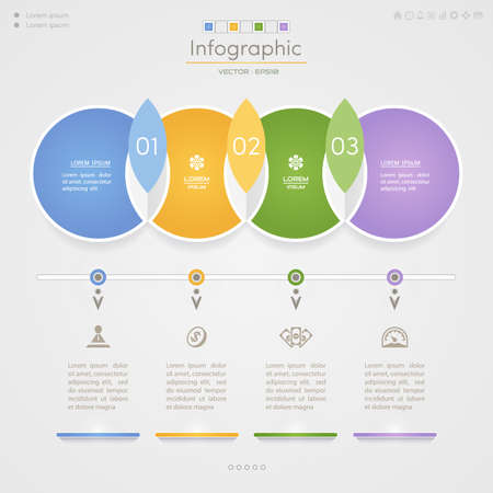 Infographics design template with icons, process diagram, vector eps10 illustration Illustration