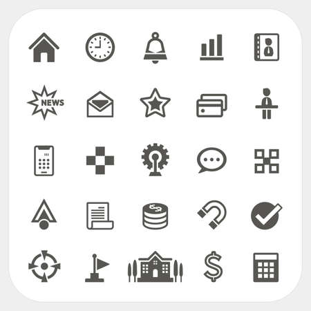 Business icons set, EPS10, Dont use transparency.