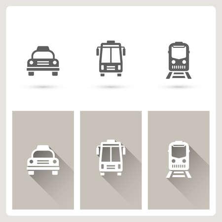 Vehicle icons set Illustration