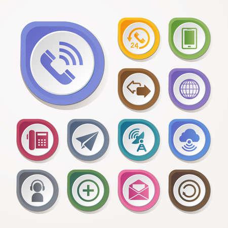 Communication icons set Standard-Bild - 109413726