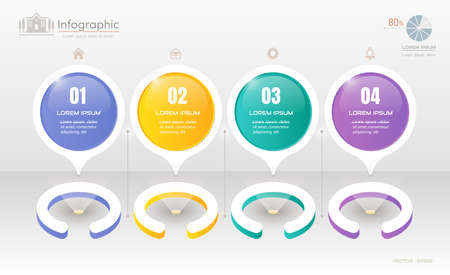 Infographics design template with icons Illustration