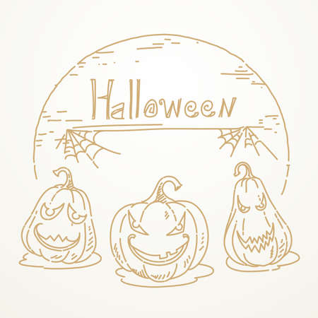 Halloween, Vector drawing