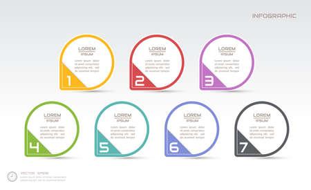 Infographics design template, process diagram, vector eps10 illustration