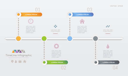 Infographics-Designschablone mit Ikonen, Prozessdiagramm, Illustration des Vektors eps10