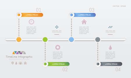 Infographics ontwerpsjabloon met pictogrammen, procesdiagram, vectorillustratie eps10