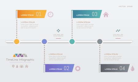 Modèle de conception d'infographie avec icônes, diagramme de processus, illustration vectorielle eps10