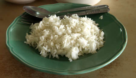 Cooked rice on the plate  Stock Photo - 16646686