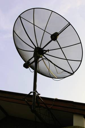 And a satellite dish for entertainment and news Stock Photo - 16761704