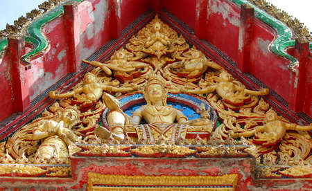Gable statues of the temple  Stock Photo - 16902930