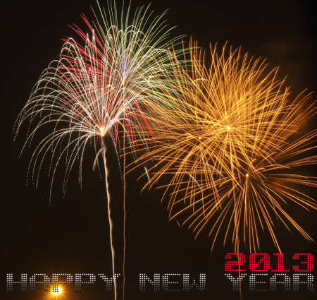 panoply: Fireworks   Happy new year Stock Photo