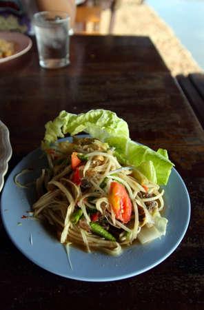 Tam papaya  fermented crab Stock Photo - 17043002