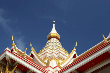 Temple roof peak Stock Photo - 17090091