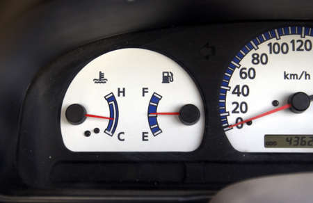 mileage: Mileage dial indicator