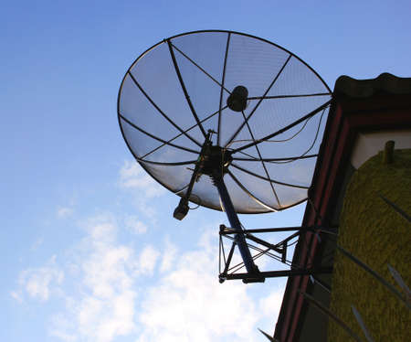The satellite dish roof  Stock Photo - 17334883