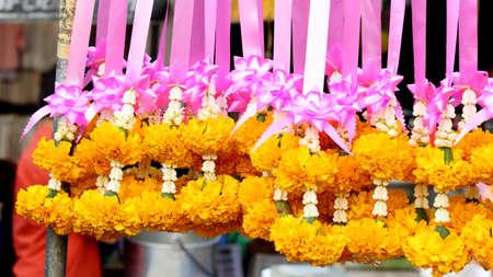 Marigold garlands Stock Photo - 17471734