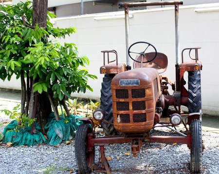 old tractors: Disable the old tractors  Stock Photo