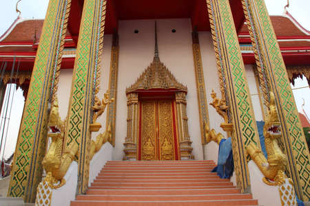 Stairs to temple Thailand  photo