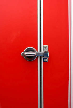 Bathroom door red  I locked the door