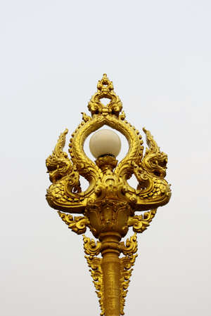 Beautiful lantern with gold King of Nagas or serpent photo