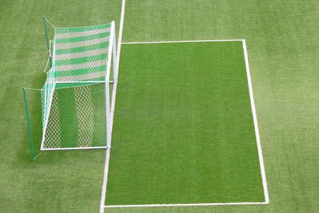 winning pitch: Door frame inside the football stadium  Stock Photo