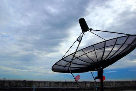 Satellite dish after rain Stock Photo - 20550562