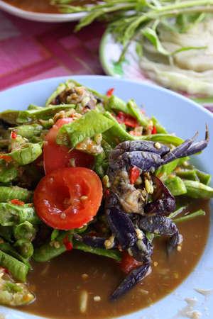 Thai style  Papaya Salad with Crab