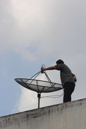 Repairing satellite dishes
