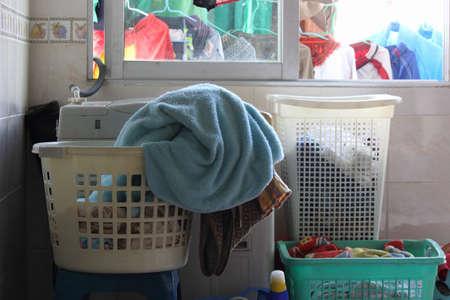 Für Wäsche waschen Standard-Bild
