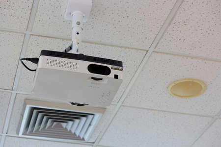 audiovisual:  Ceiling  Projector   Stock Photo