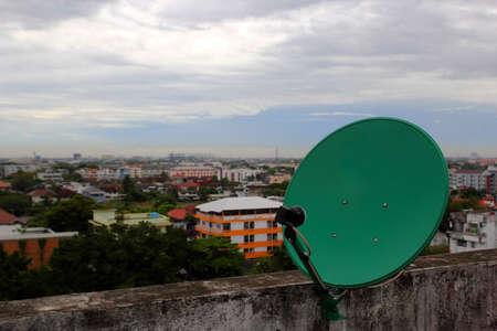Satellite green roof  photo