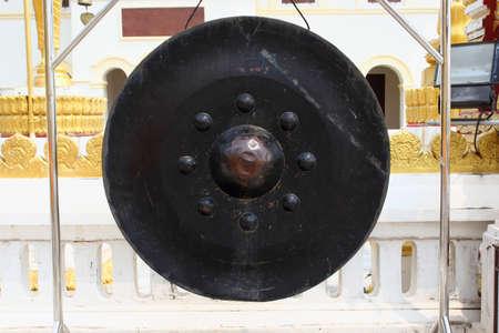 rhythm rhythmic: Gong religious symbols  Stock Photo