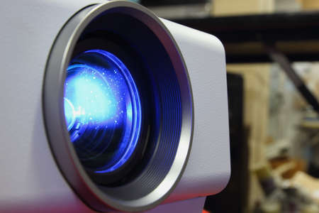Close- Up lens and a blue beam projectors part 1 photo