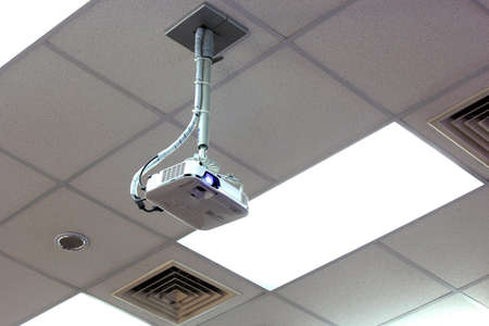 Projector hang on ceiling in the meeting room