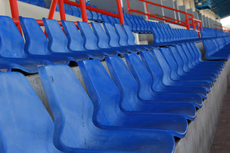 Empty seats in football stadium after the season part 3 Stock Photo