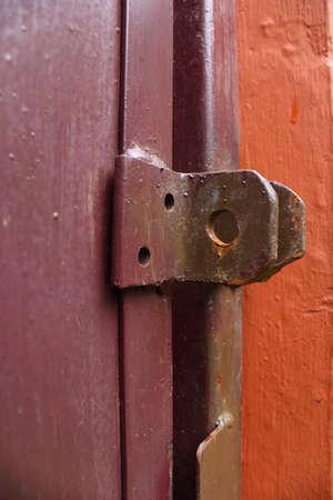 shackle: Shackle padlock door Stock Photo