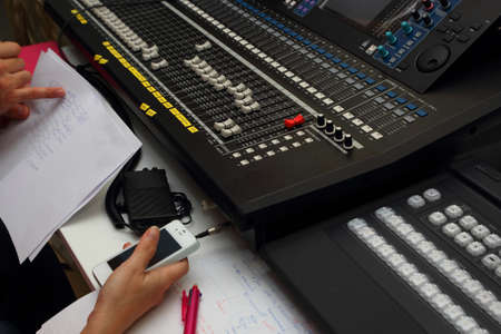 dubbing: Check the operation of the mixer