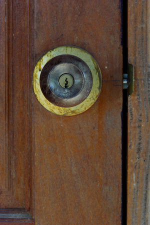 Metal Brass Door Knob Open House photo