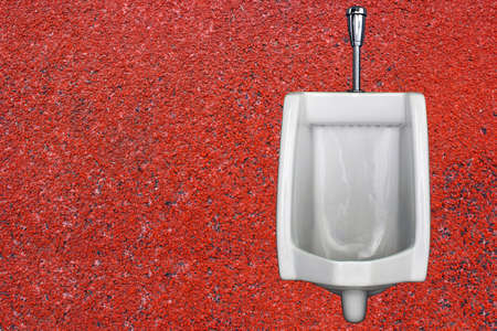 urinals red background Part 1 photo