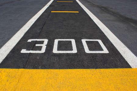 battleship: Closeup runway at takeoff on battleship